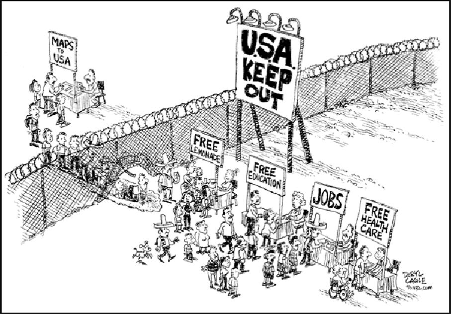 the international academy immigration and education project border fox news immigration usa cartoon
